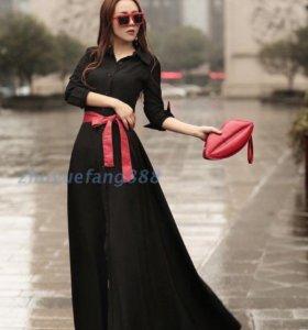 Чёрное платье в пол.Новое