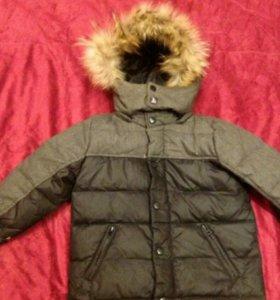 Зимняя куртка на мальчика с натуральным мехом