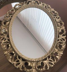 Новое овальное зеркало из полиуретана