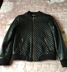 Куртка для девочки,кожаная утеплённая