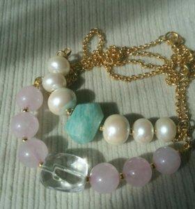 Ожерелье в подарок (с натуральными камнями)