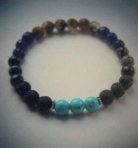 Мужские браслеты, серьги, кулоны из камня