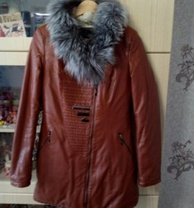 Куртка кожанная утепленная