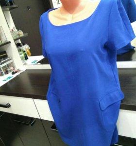 платье синее 48- 50 р