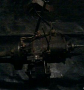 Кпп и раздатка с карданами УАЗ