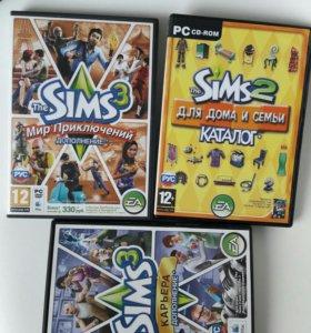 Компьютерные игры. Sims 2. Sims 3 (дополнение)