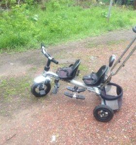 Велосипед для двойни, погодок, близнецов