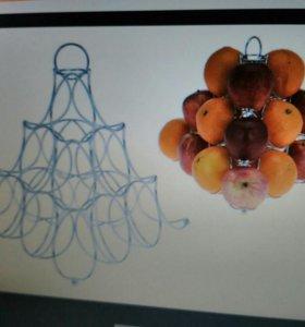 Подставка ваза для фруктов