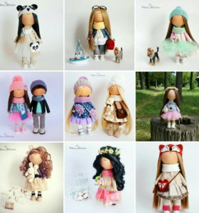 Интерьерные куколки ручной работы 🎀