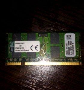 ОЗУ KINGSTON KVR800D2S6/2Gb, SO-DIMM DDR2