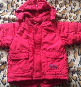 Куртка на девочку 68см