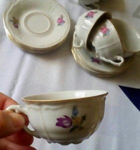 Кофейные фарфоровые чашки