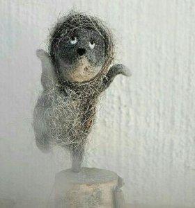 Ёжик в тумане из шерсти ручной работы
