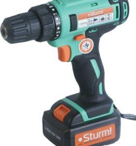 Дрель акк. Sturm! CD3218L 18В