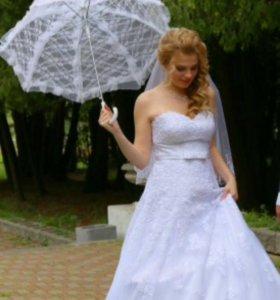 Свадебное платье+аксессуары