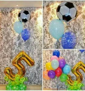 Гелиевые шарики и цифры