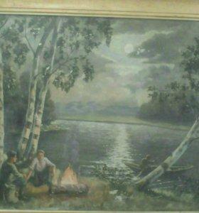 Картина (ночь у реки)