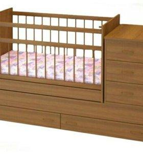Новая кроватка + новый матрас