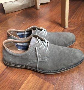 Мужские туфли из натуральной замши