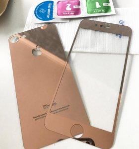 Стекла зеркальное на айфон 7