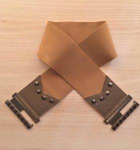 Ремень на талию, тканевый с металической затёжкой