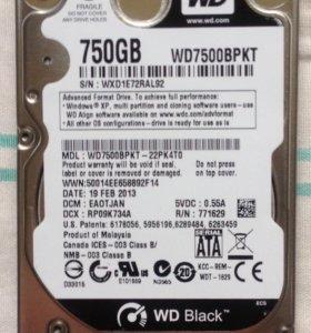 Жесткий диск 750Гб 2.5 WD Black