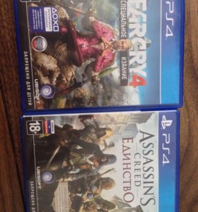 Far Cry 4 и Assassin's Creed Единство PS4