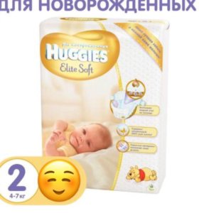 Подгузники Huggies Elite Soft (2) 4-7 кг 60 шт.