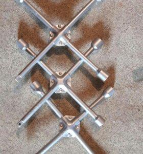 Ключ балонный (балонник) крестовой, усиленный