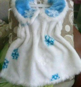 """Новогодний костюм для девочки""""Снежинка"""""""