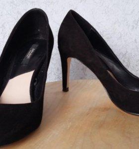 Туфли зара замша