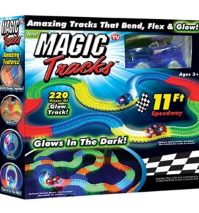 Светящийся конструктор Magic Tracks 220 деталей