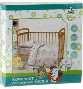 КПБ в детскую кроватку Дисней.