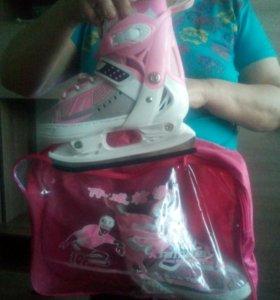 Детские коньки для девочки, 2 пары