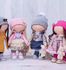 Текстильные куклы.
