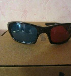 Стерео, анаглифные очки 3D(2шт).
