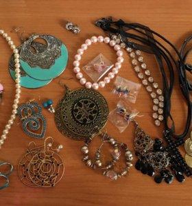 Украшения, браслеты, серьги, колье