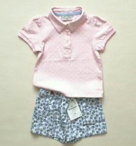 Новый комплект шорты Zara и поло
