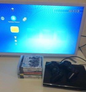 PS3 Slim [2 джойстика + 9 игр]