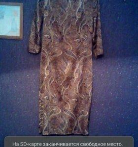 Платье с этническими мативами(шелк)