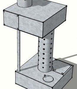 Печь на отработке с Водянным контуром