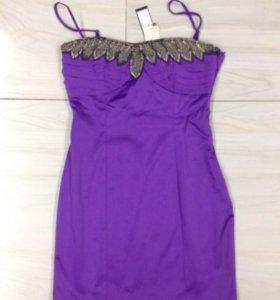 Платье фиалкового цвета