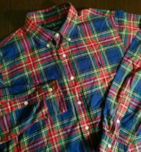Рубашка Ralph Lauren XL клетка