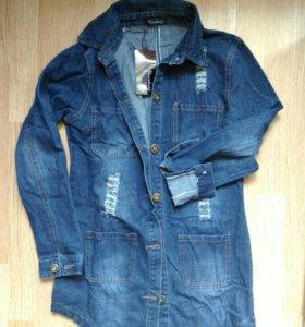 Новое джинсовые платье рубашка размеры