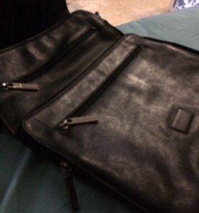 Новая мужская кожаная сумка FRANCESCO MOLINARY