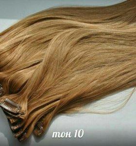 Волосы натуральные на заколках и трессы