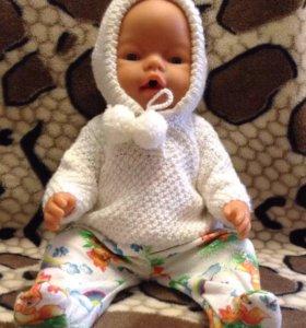 Свитерок для куклы беби борн