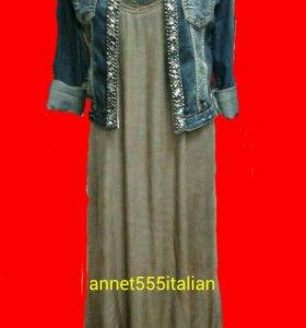 Платье шелковое с гипюром