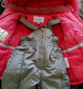 Зимний костюм на девочку 2-4 года