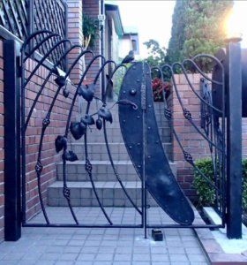 Ворота, калитки кованые